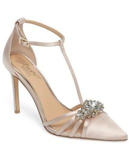 Badgley Mischka Cabo Embellished Pointy Toe Pump