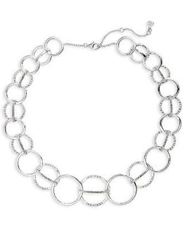 Silver Sparkle Collar Necklace