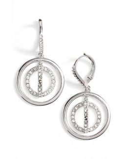 Sparkle Silver Crystal Drop Earrings
