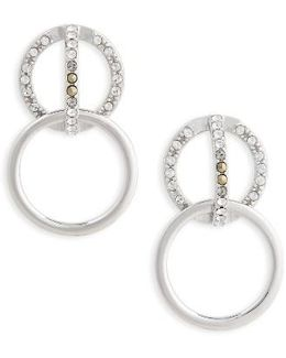 Silver Sparkle Double Drop Earrings