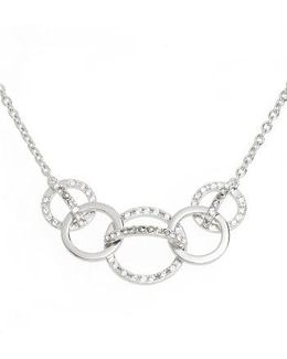 Silver Sparkle Crystal Collar Necklace