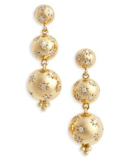 Temple St. Clair Cosmos Diamond Drop Earrings