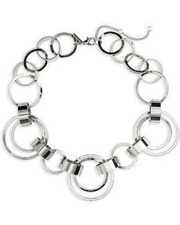 Circle Link Collar Necklace