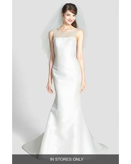 'preston' Silk Magnolia Sheath Wedding Dress