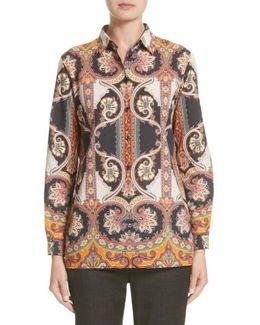 Suzani Print Cotton Shirt