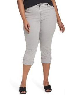 Dayla Colored Wide Cuff Capri Jeans