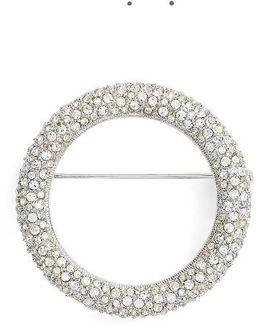 Pave Circle Brooch