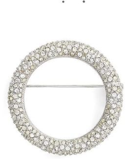 Pave Circle Brooch