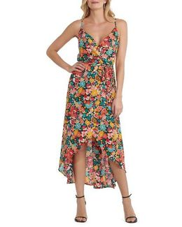 Floral Print High/low Dress