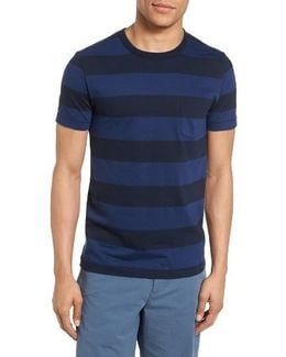 Varsity View Stripe Slim T-shirt