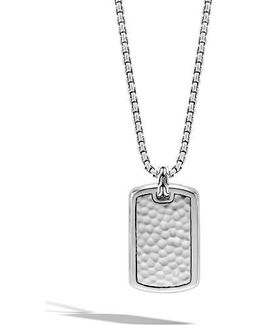Classic Chain Dog Tag Pendant Necklace