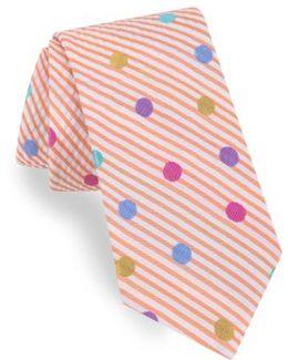 Dot Silk & Cotton Tie