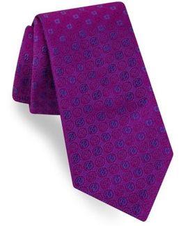 Sundial Medallion Silk Tie