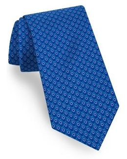 Geometric Cotton & Silk Tie