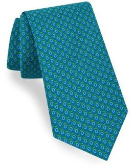 Geometric Cotton & Silk Tie