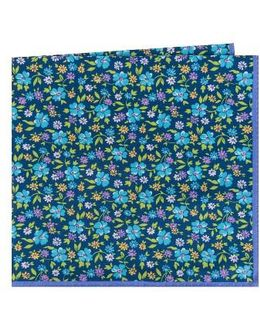 Floral Cotton & Silk Pocket Square