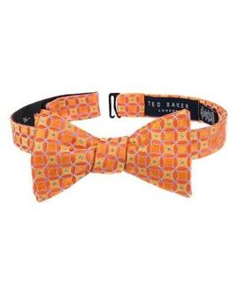 Park Lane Geometric Silk Bow Tie