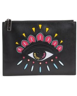 Icons Eye Leather Pouch