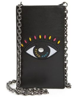 Icons Cory Eye Leather Phone Case On A Chain