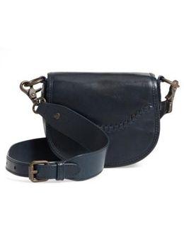 Mini Melissa Whipstitch Leather Saddle Bag