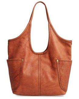 Campus Rivet Leather Shoulder Bag