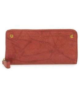 Campus Rivet Leather Continental Zip Wallet