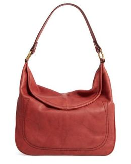 Campus Rivet Leather Hobo