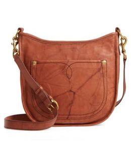 Campus Rivet Leather Crossbody Bag