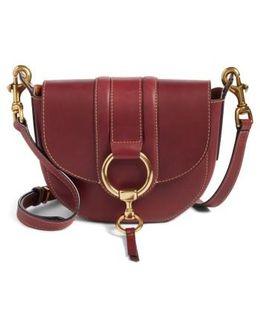 Small Ilana Harness Leather Saddle Bag - Burgundy