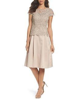 Lace Tea-length Dress