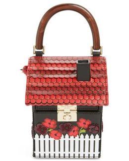 Ooh La La Cuckoo Clock Leather Handbag