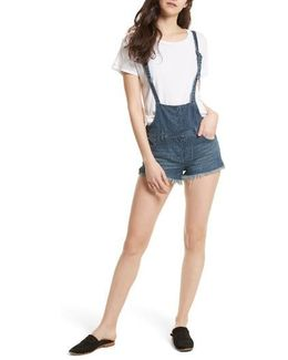 Strappy Denim Short Overalls