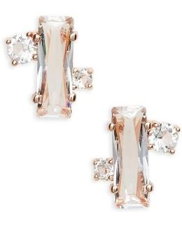 Bria Baguette Cluster Earrings