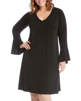 Taylor Bell Sleeve A-line Dress