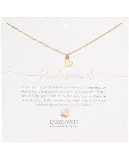 Bridesmaid Heart Pendant Necklace
