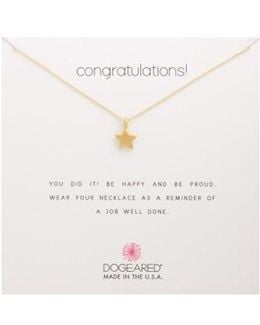Congratulations Pendant Necklace