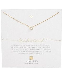 Bridesmaid Pearl Pendant Necklace