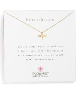 Friends Dragonfly Pendant Necklace