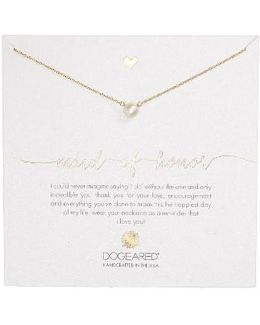 Maid Of Honor Pearl Pendant Necklace