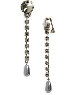 Queen Jewels Classic Crystal & Imitation Pearl Drop Earrings