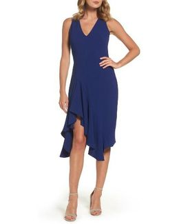 Stretch Crepe A-line Dress