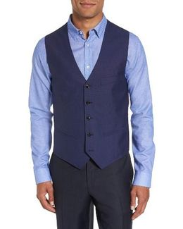 Troy Trim Fit Solid Wool Vest