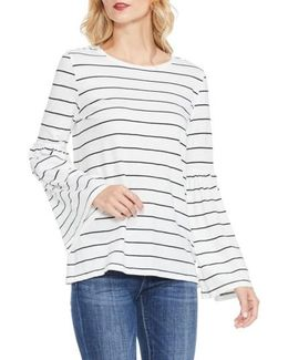 Bell Sleeve Stripe Top