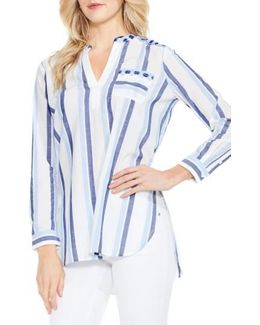 Embroidered Stripe Top