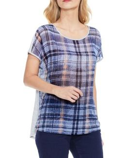 Plaid Front Tee
