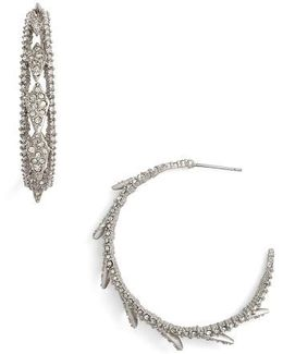 Crystal Encrusted Hook Earrings