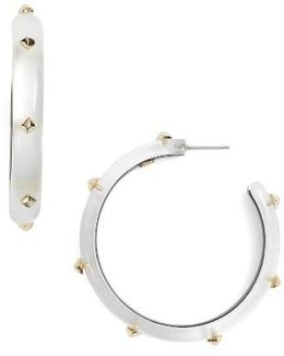 Studded Lucite Hoop Earrings