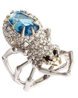 Encrusted Spider Ring