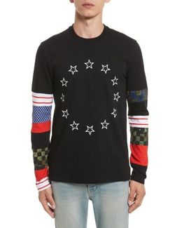 Cuban Fit Circle Star Print T-shirt