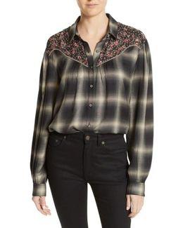 James Floral Print Western Shirt